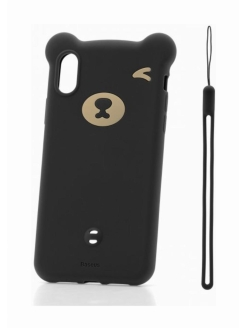 Чехол-накладка Apple iPhone XS Max Baseus Bear Black BASEUS