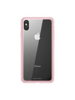 Чехол-накладка Apple iPhone X Baseus See-through Glass Pink BASEUS