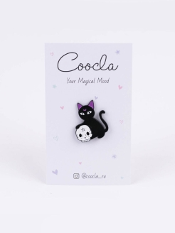 Значок Cat Moon Coocla