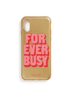 Чехол для iPhone Х (silicone), forever busy ban.do