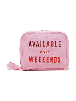 Сумка-клатч toiletries bag, available for weekends ban.do