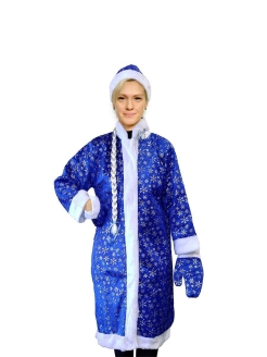 Snow Maiden costume with blue snowflakes MARKETHOT