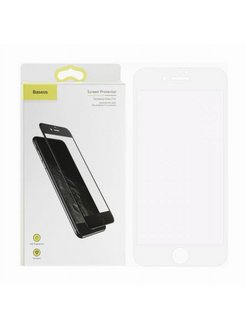 Защитное стекло Apple iPhone 7 Baseus Silk Screen Printed Blue Light White 0.2mm BASEUS