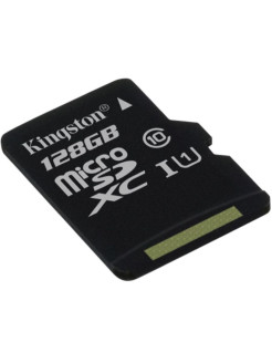 Карта памяти microSDXC Canvas Select, 128 Гб Kingston