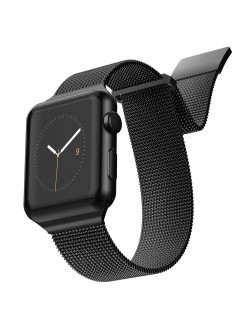 Strap New Mesh for Apple Watch 42 / 44mm Black x-doria
