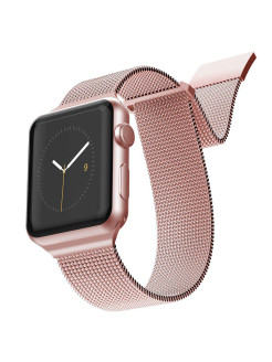 Ремешок New Mesh для Apple Watch 42/44мм Rose Gold x-doria