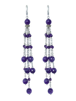 Серьги-грозди Miniature Tassel Violet Alerie-Accessories