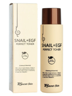 Тонер для лица с экстрактом улитки SECRETSKIN SNAIL+EGF PERFECT TONER SECRET SKIN
