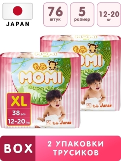 Трусики MOMI Megabox XL (12-20кг.) 76шт. Momi