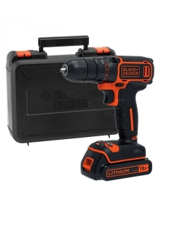 Шуруповерт Black & Decker BDCDC18KB-QW с аккумулятором Black+Decker
