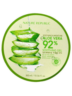 Универсальный гель с алое SOOTHING & MOISTURE ALOE VERA 92% SOOTHING GEL NATURE REPUBLIC