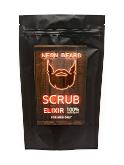 "Скраб для тела ""RED NEON - COFFEE MOROCCAN"" NEON BEARD"
