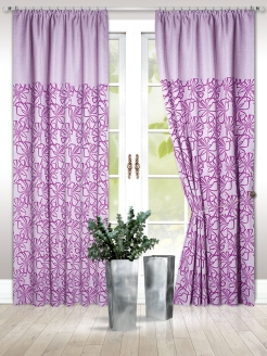 Interior curtains, curtains on the curtain tape Nadzejka