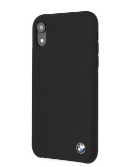 Чехол BMW для iPhone XR Signature Liquid silicone Hard TPU Black BMW