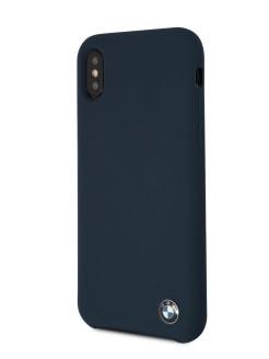Чехол BMW для iPhone X/XS Signature Liquid silicone Hard TPU Navy BMW