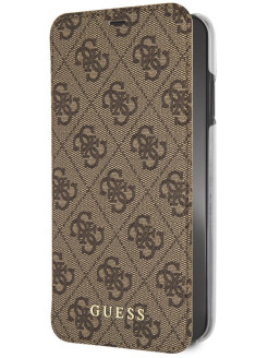 Чехол Guess для iPhone XS Max 4G Charms collection Booktype Brown GUESS