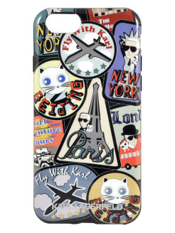 Чехол Lagerfeld для iPhone 6/6S TPU collection Around the world Hard Paris Karl Lagerfeld