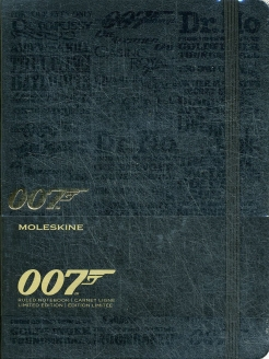 Блокнот Moleskine Limited Edition James Bond Large 130х210мм 240стр. линейка черный Titles. Moleskine