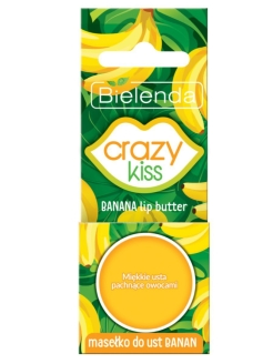 Масло для губ Банан, 10г, CRAZY KISS BIELENDA