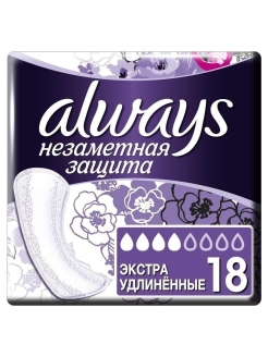 Sanitary pads, 18 pcs., for critical days Always