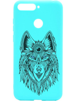 Чехол Soft Touch Art Grand Wolf для Huawei Honor 7C / 7A Pro / Y6 Prime (2018) GOSSO CASES