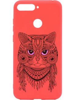 Чехол Soft Touch Art Grand Cat для Huawei Honor 7C / 7A Pro / Y6 Prime (2018) GOSSO CASES