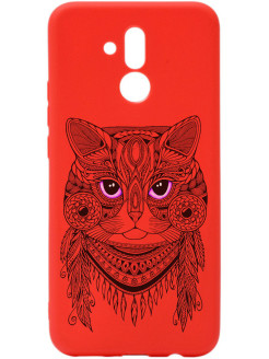 Чехол Soft Touch Art Grand Cat для Huwei Mate 20 lite GOSSO CASES