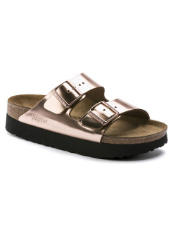 Биркенштоки Arizona Platform NL Metallic Copper Narrow BIRKENSTOCK