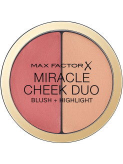 Румяна и  Хахайлайтер MIRACLE CHEEK DUO, тон 20 brown peach champagne MAX FACTOR