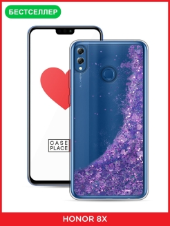 Liquid iridescent glitter case for Huawei Honor 8x Case Place
