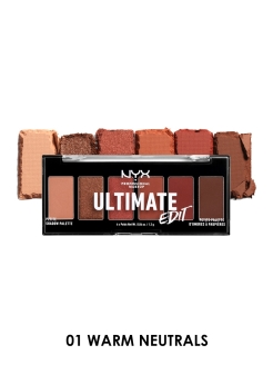 Мини-палетка теней для век ultimate edit, оттенок 01, warm neutrals NYX PROFESSIONAL MAKEUP