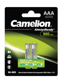Аккумуляторы AlwaysReady NH-AAA900ARBP2, ААА, 2шт. Camelion