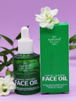 Масло для проблемной кожи с центеллой и маслом чайного дерева Centel Teatree Face Oil, 30 мл So Natural