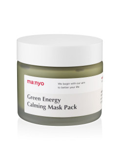 Маска для лица с экстрактом зеленого чая Green energy calming mask pack MANYO FACTORY