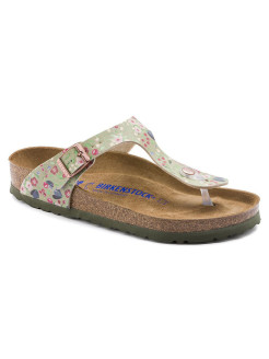 Пантолеты Gizeh SFB BF DD Meadow Flowers Khaki Regular BIRKENSTOCK