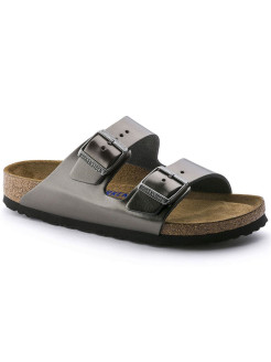 Биркенштоки Arizona NL WB Metallic Anthracite Regular BIRKENSTOCK
