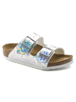 Биркенштоки Arizona Kids MF Hologram Silver Regular BIRKENSTOCK