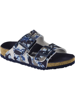 Биркенштоки Arizona Kids BF DD Dino Camo Blue Regular BIRKENSTOCK