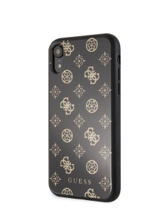 Чехол для iPhone XR Double layer 4G Peony Hard Glitter Black GUESS
