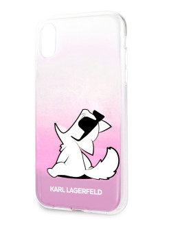 Чехол для iPhone XR TPU collection Choupette Sunglasses Hard Pink Karl Lagerfeld