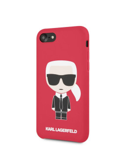 Чехол для iPhone 7/8 Liquid silicone Iconic Karl Hard Red Karl Lagerfeld