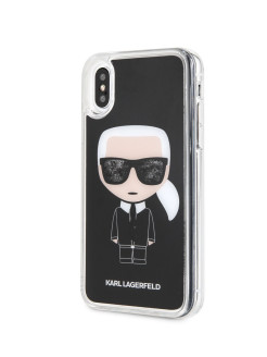 Чехол для iPhone X/XS Liquid glitter Iconic Hard Black Karl Lagerfeld