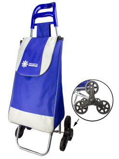 Shopping trolley bag with triple wheels PROFFI