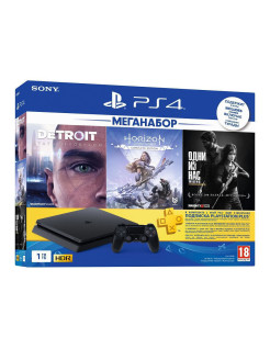 Игровая консоль PlayStation 4 1ТБ + Detroit, Horizon, The Last of Us Sony