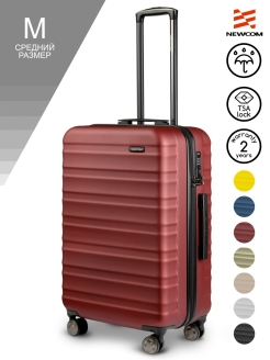 Suitcase with a combination lock on 4 wheels medium, M, 58l Newcom