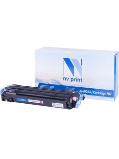 Картридж NVP совместимый NV-Q6003A/NV-707 Magenta (HP 124A) для Color LaserJet 1600/ 2600n/ 2605 NV Print