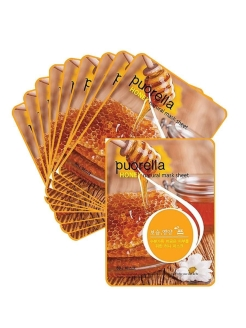 Набор Тканевых масок с медом Spunlace Mask Honey, 10 шт х 21 гр Baroness
