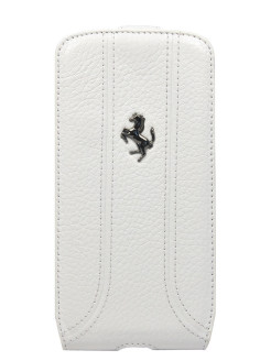 Чехол Ferrari для Galaxy S4 FF-Collection Flip White FERRARI