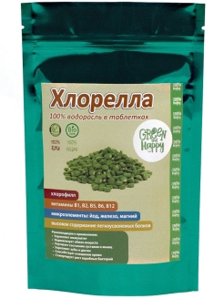 Хлорелла (таблетки), 100 гр. Green and Happy