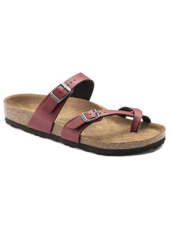 Биркенштоки Mayari BF Pull Up Bordeaux VEG2 Narrow BIRKENSTOCK